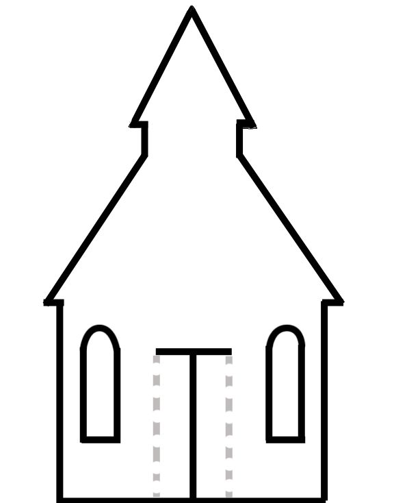 Decorate and cut out the church. Paste it onto construction paper and have the kids decide what to put behind the doors.