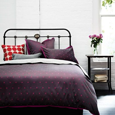 Spots King bed quilt cover