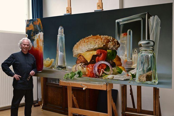 Deze Nederlandse schilder maakt hyperrealistische schilderijen van junkfood   The Creators Project