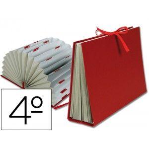 Carpeta acordeón de cartón forrado con materiales de primera calidad. Con cinta de raso para una mayor resistencia y con guardas para un perfecto acabado.  Con 20 departamentos A-Z y 1-31. Tamaño CUARTO. Color burdeos.