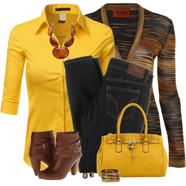 A fashion look from September 2014 featuring Doublju blouses, Missoni cardigans and D&G jeans. Browse and shop related looks.