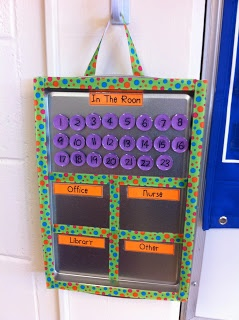Classroom management. This is actually a really cool idea. It would really help during study hall attendance when 6 kids came to you with a note to go to another class! I can coordinate the numbers with my cell phone storage numbers too.