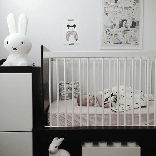 Baby nursery- Black & White Kids Rooms - Petit & Small