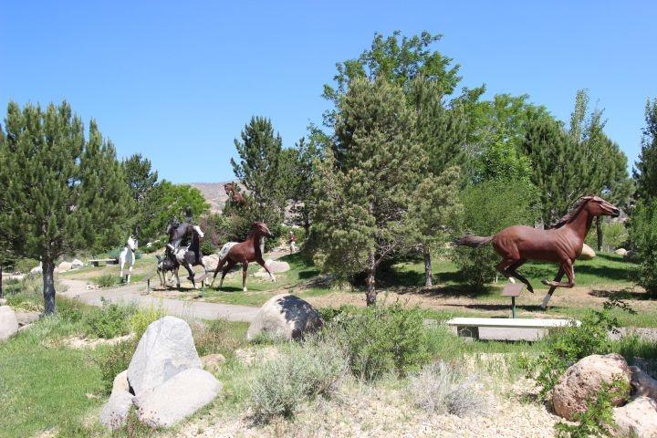 McGary Horse statues near Champions's Run Condos where I lived.