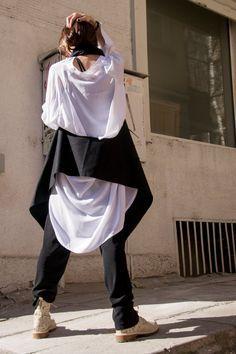 NEW Spring Extravagant  Sleeveless Vest / Loose Casha Scarf Top / Vest  / Extravagant Asymmetric Tunic  Top / Amazing Scarf A06065