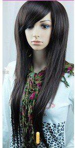 2012 сексуальное длинные прямые природный черные волосы парики здоровья женщин