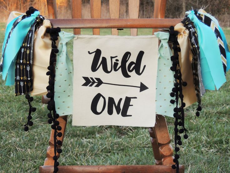 Wild One Birthday Banner Aztec Tribal Decor Boys Nursery Photo Prop Backdrop Cake Smash High Chair Banner First Birthday by JadeandJo on Etsy