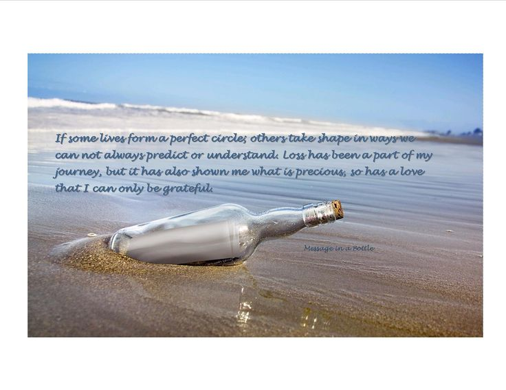 Real Life Twin Flame Separation And Surrender: Message In A Bottle Quote