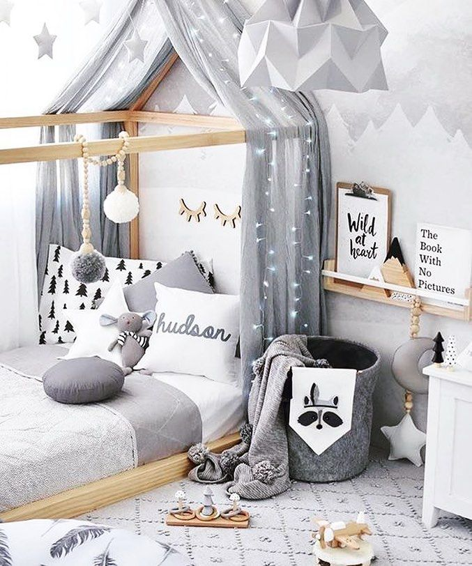 """Mi piace"": 15, commenti: 4 - Lacy Hendricks (@lacyhendricks.realtor) su Instagram: ""Love how cozy this toddler boy's room is. Minimal decoration, yet so adorable!⠀ ⠀ #boysroom #gray…"""