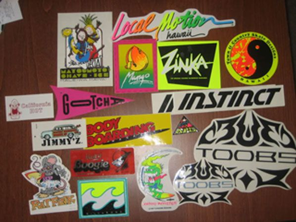 Retro Surf Stickers From The 80 S The 80 S South