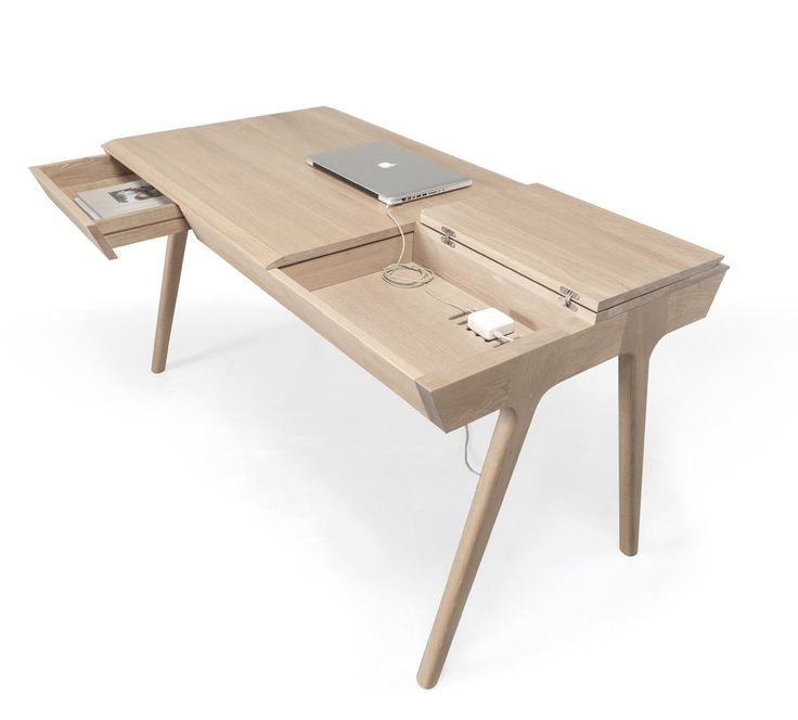 Designed by Gonçalo Campos for Wewood, Metis is a solid wood desk that's outfitted with lots of compartments and sections you can use to stow your gear.