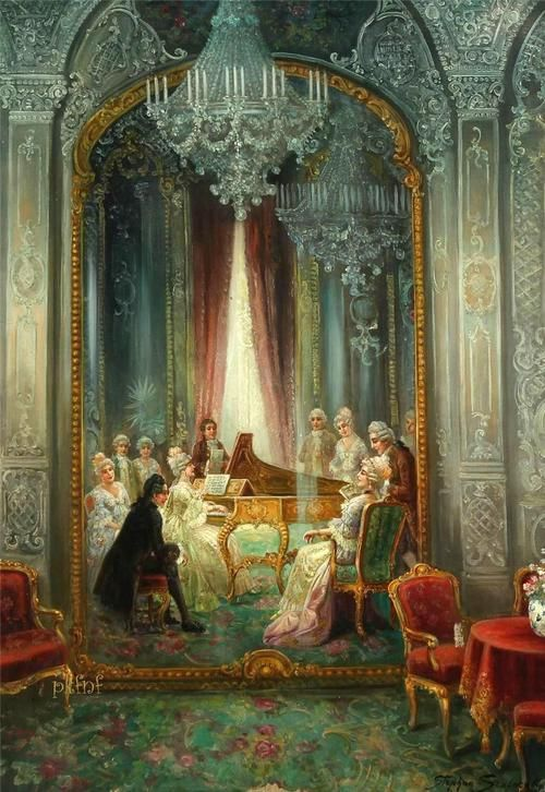 Rococo Interior with People and Music - Stephan Sedlacek