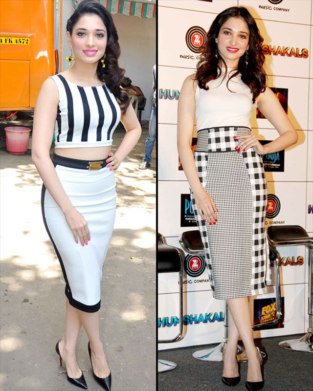 check skirt or pencil dress