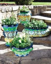 -37TY Moroccan-Design Planters: Green Thumb, Garden Ideas, Moroccan Planters, Moroccan Design, Outdoor, Patio, Gardens, Photo, Indoor Pots