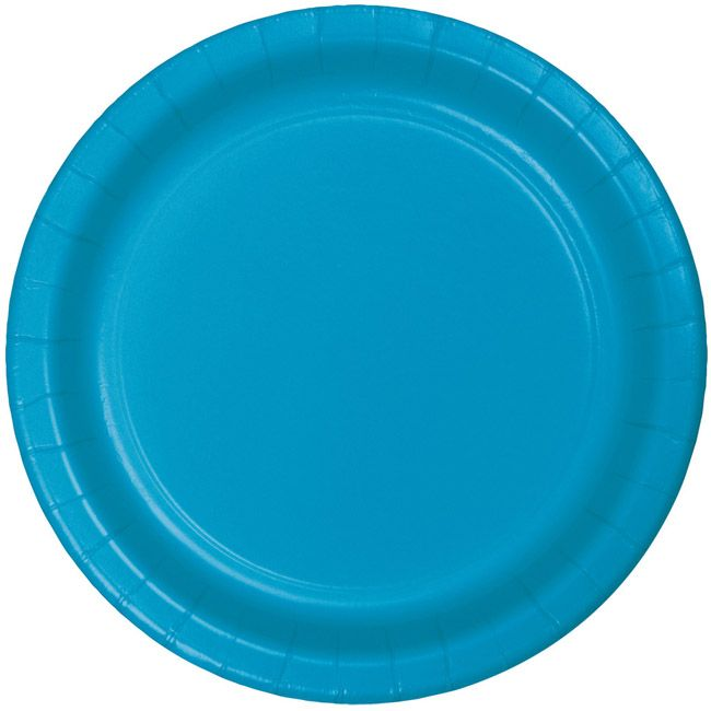 Turquoise Heavy Duty 7 Inch Paper Plates Disposable Wedding Plates Plates Paper Plates