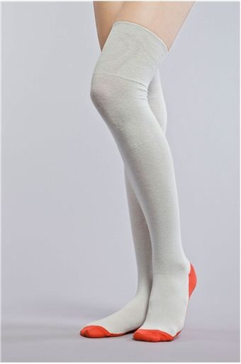 A.F. Vandevorst   Coral-Striped Knee-High Socks $39