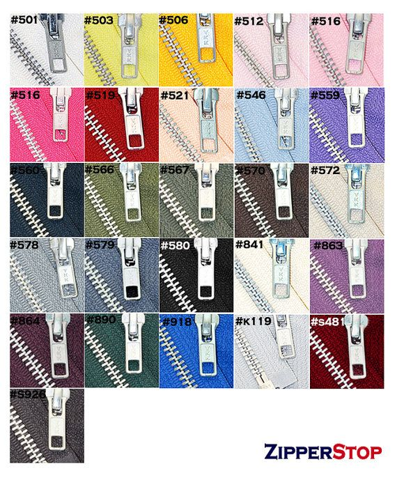 Sewing supplies 36 inch Jacket Zipper YKK Number 5 Aluminum Metal   by zipperstop, $3.45