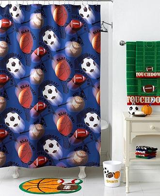 Jay Franco Bath Accessories, Play Ball Shower Curtain - Shower Curtains & Accessories - Bed & Bath - Macy's