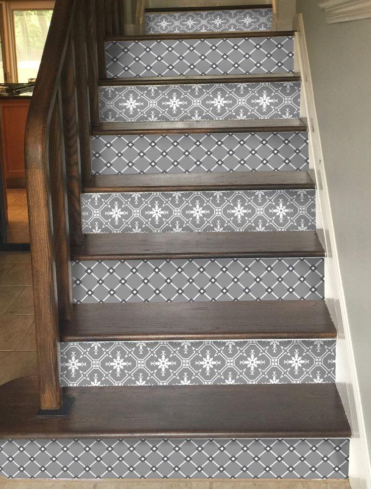 15pc Stair Riser Vinyl Strips Removable Sticker Peel