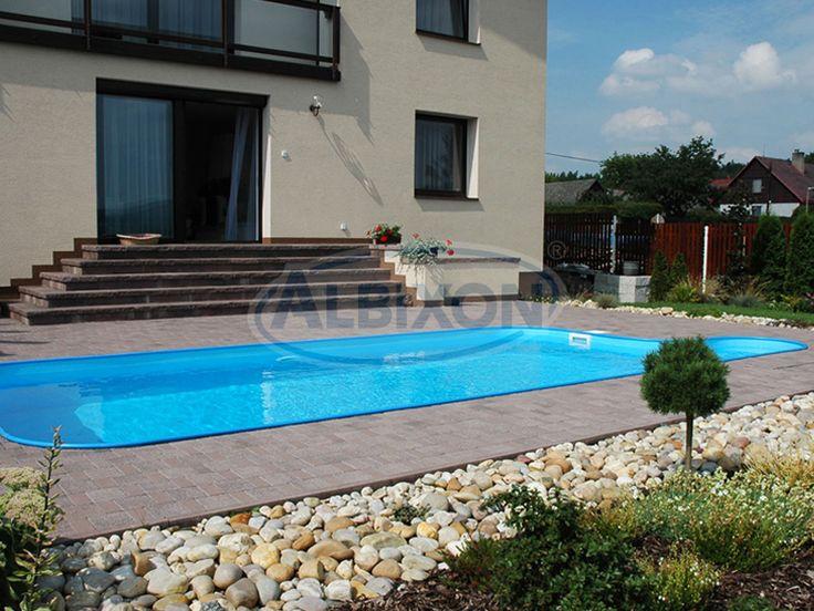 Прямоугольный бассейн Albion Econ pools серии Trend.