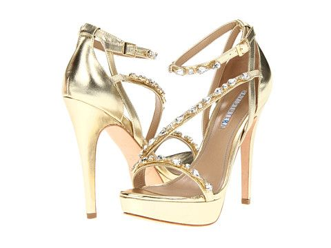David Tutera Cascade Gold Metallic - They look like they will hurt at the end of the day, but hey...beauty is pain!