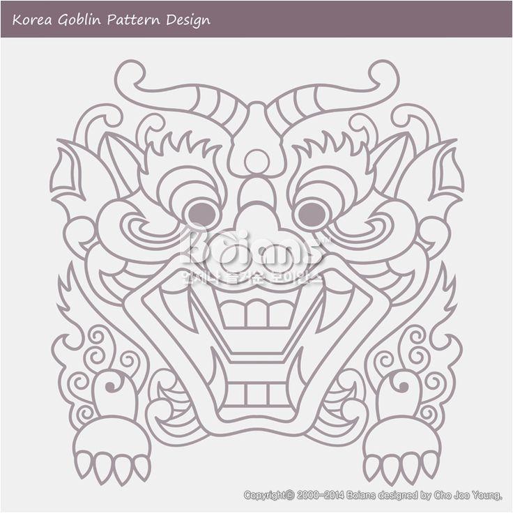 한국의 도깨비 문양 패턴디자인. 한국 전통문양 패턴 디자인 시리즈. (BPTD020261) New Launched Korea Goblin Pattern Design. Korean traditional Design Series. (BPTD020261) Copyrightⓒ2000-2014 Boians.com designed by Boians Cho Joo Young.