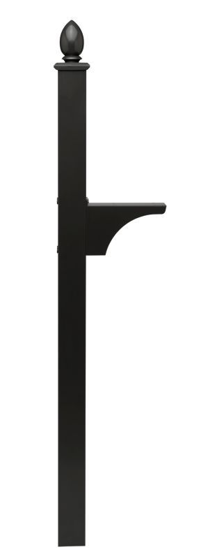 Architectural Mailboxes 6215 Decorative In-ground Side Mount Mailbox Post for Oa Black Mailboxes Accessories Posts