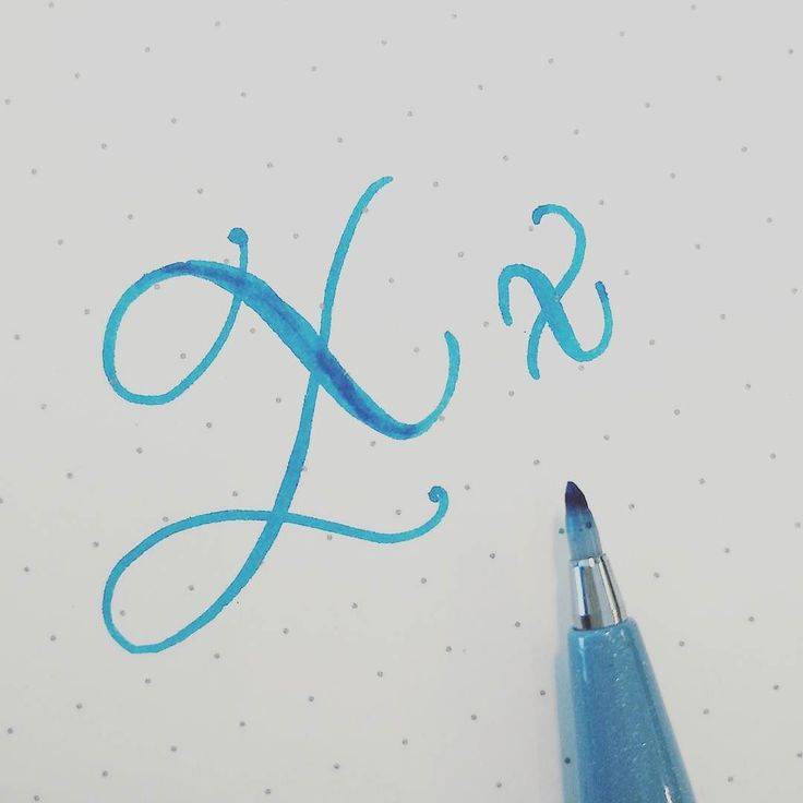 X-cuse me.. . #lxmalphabet . . . #handlettering #lettering #brushlettering #brushcalligraphy #letterachieve_x #abcs_x #x #pentelfudetouch #blue #alphabet