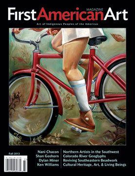 "First American Art Magazine Issue No. 1, Fall 2013, cover art by Nanibah ""Nani"" Chacon (Navajo-Xicana)"