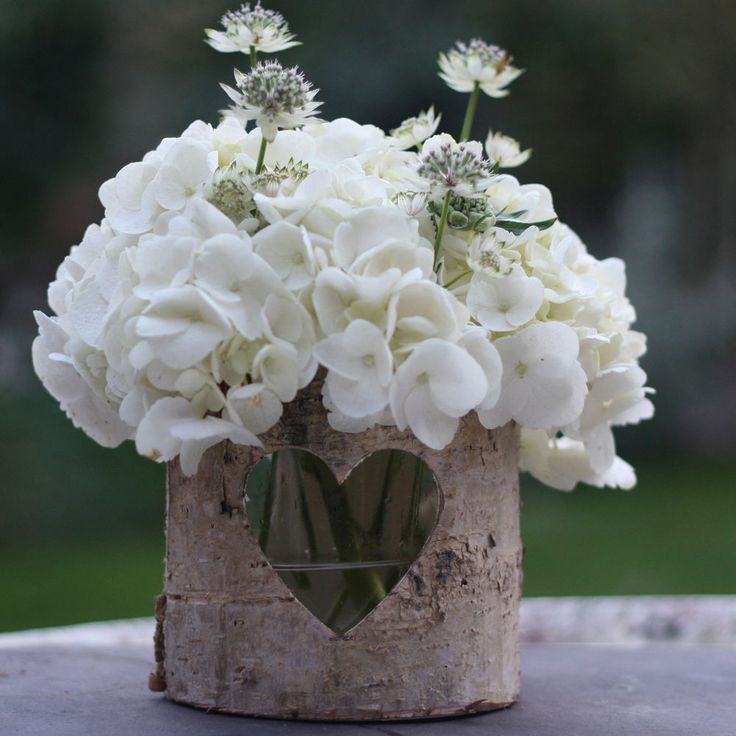 1 x Birch Bark Vase / Wood Lantern Medium | Rustic Wedding Table Centre Piece in Home, Furniture & DIY, Wedding Supplies, Centerpieces & Table Decor | eBay