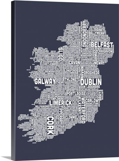 Ireland city and county names