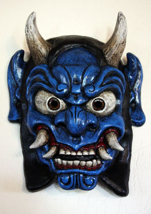 Oni   Oni Mask in Blue by Faust-and-Company on deviantART