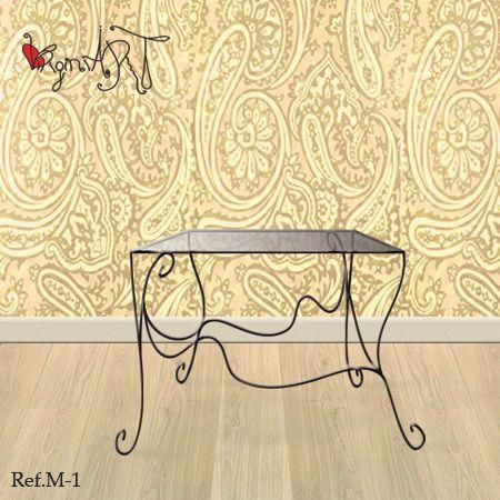 52 best muebles de forja images on pinterest arabesque - Mesillas originales ...