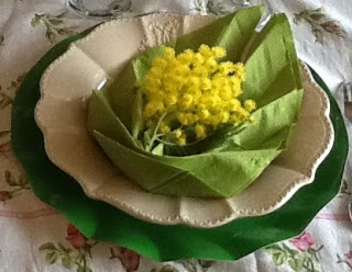 Miss Jane Home - Mimosa Napkin. #tablescape #Spring #Easter