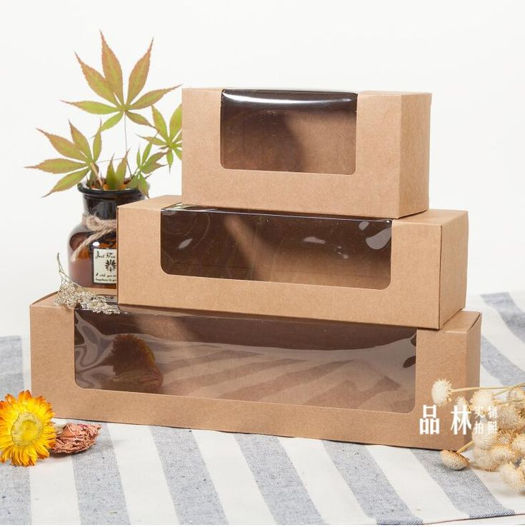 137x70x60mm 50pcslot paper kraft paper cookie boxes with