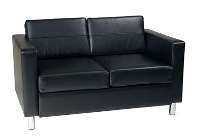 Office Star Pacific Sofas and Loveseats in Black PAC52-V18