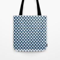 Navy Elephant Tote Bag