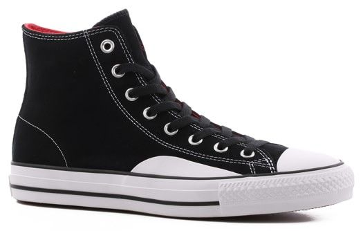 902f2e7ed0f1 Converse Chuck Taylor All Star Pro High Skate Shoes - black enamel  red white - Free Shipping
