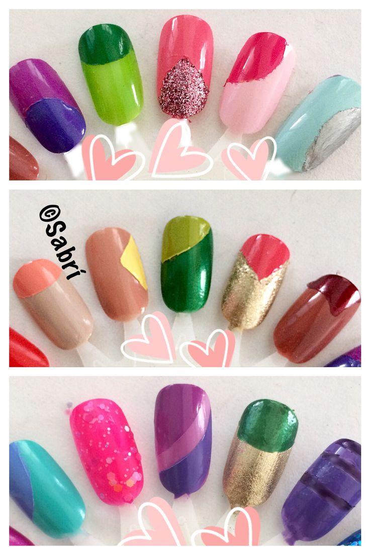 My new #naildesigns: #geometric #popart #metallic #boldcolor #glitter #bling . #nailart. #Nails #Uñas #Unghie #Ongles  #Unhas #Nailpolish #Esmalte #Smalto #Émail. #Beauty #Belleza #Bellezza #Beauté #Beleza #Cosmetics #Cosméticos #Cosmetici #fabat40.