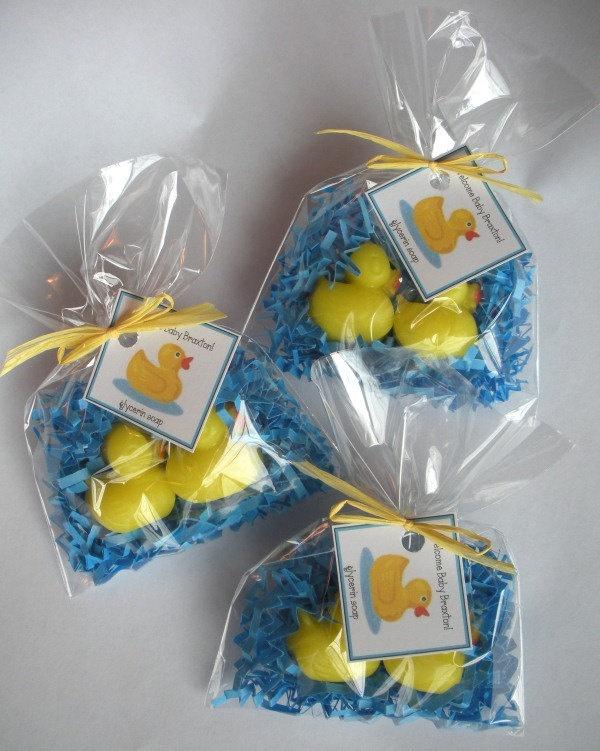20 Yellow Ducks Glycerin Soap Shower Favors by brownbagbathbars, $35.00