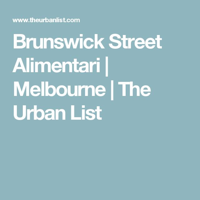 Brunswick Street Alimentari | Melbourne | The Urban List