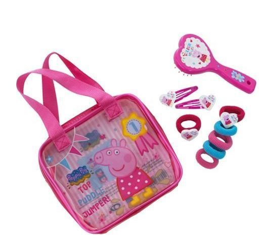 #Peppa #Pig #Childrens #Washbag #Hair #Accessories #Travel #Set #Clips #Brush #Pink #Pouch #Kit FREE UK Delivery