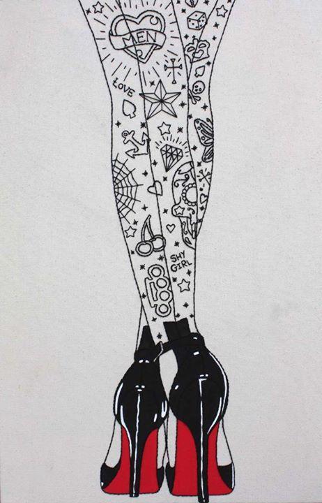 art shoes tattoos tattoo pin up rockabilly old school psychobilly
