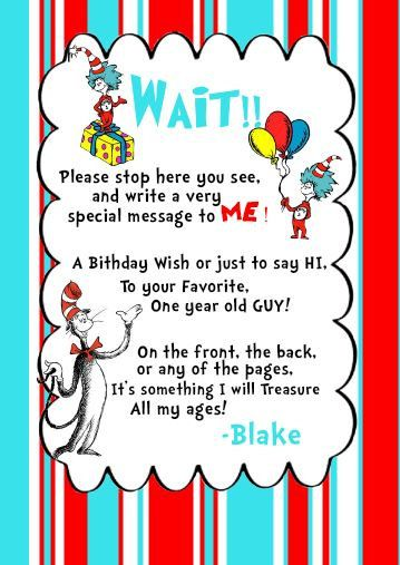 Dr seuss Cat in the Hat first Birthday custom printable on Etsy, $3.00