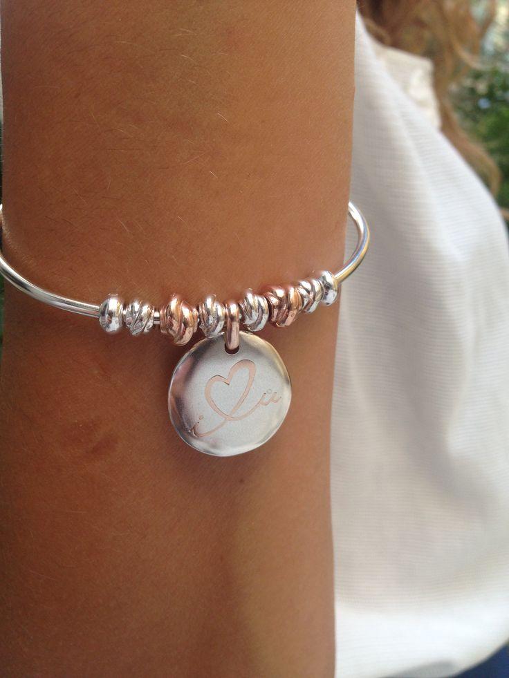 #iloveyou #argento 925 e #oro rosa 9k #bracelet  #charmbracelet #charm #jewelry #madeinitaly #queriotbracelet #dilloconcivita