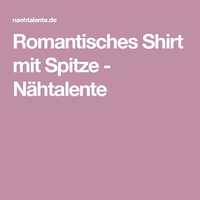 Romantisches Shirt mit Spitze - Nähtalente