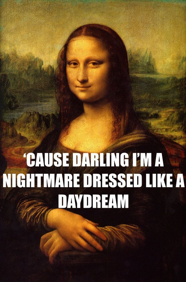 """Mona Lisa"" by Leonardo da Vinci times taylor swift lyrics perfectly describe famous paintings"