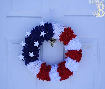 July 4th wreath tutorial. MOPS craft night?
