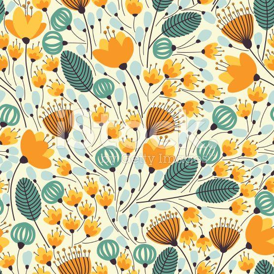 Orange flowers royalty-free stock vector art