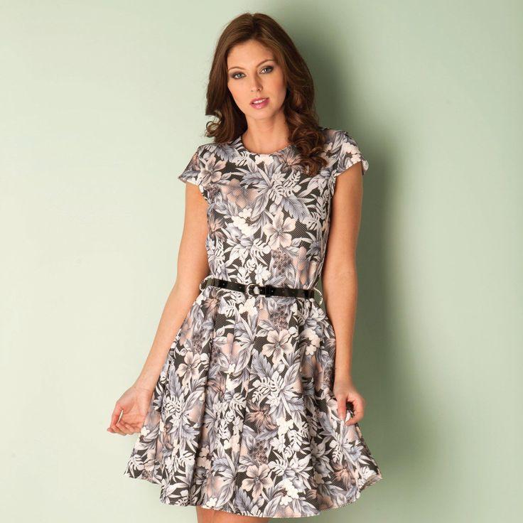 Dresses | Multi colour Womens Floral Print Skater Dress | Get The label